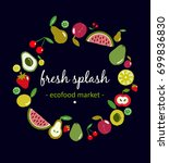 fruits circle illustration. ... | Shutterstock .eps vector #699836830