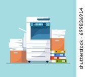 office multifunction printer... | Shutterstock .eps vector #699836914