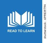 book icon or logo  vector... | Shutterstock .eps vector #699839794