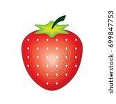 strawberry illustration  | Shutterstock .eps vector #699847753