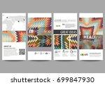 flyers set  modern banners.... | Shutterstock .eps vector #699847930