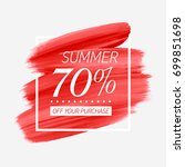 summer sale 70  off sign over... | Shutterstock .eps vector #699851698