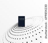 halftone dots in perspective... | Shutterstock .eps vector #699854230