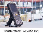 bluetooth barcode scanner in... | Shutterstock . vector #699855154