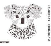 koala. zentangle style.... | Shutterstock .eps vector #699858484