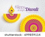 diwali festival greeting card... | Shutterstock .eps vector #699859114