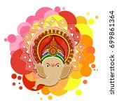 happy ganesha chaturthi design | Shutterstock .eps vector #699861364
