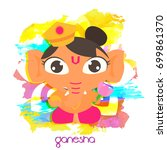 cute ganesha illustration for... | Shutterstock .eps vector #699861370