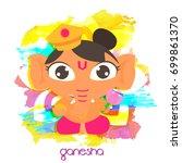cute ganesha illustration for... | Shutterstock .eps vector #699861370