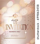 elegant invitation card with... | Shutterstock .eps vector #699863458