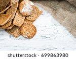 appetizing sweet homemade...   Shutterstock . vector #699863980
