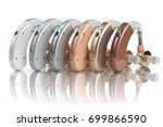 hearing aids of the different... | Shutterstock . vector #699866590