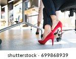 legs of unregognizable business ...   Shutterstock . vector #699868939