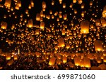 balloon fire yeepeng in north... | Shutterstock . vector #699871060