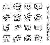 notification line vector icons... | Shutterstock .eps vector #699876988
