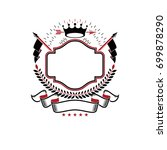 graphic emblem made with... | Shutterstock .eps vector #699878290