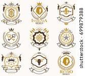 vector classy heraldic coat of... | Shutterstock .eps vector #699879388