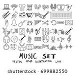 vector illustration set of... | Shutterstock .eps vector #699882550