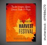 harvest festival poster. vector ... | Shutterstock .eps vector #699886270