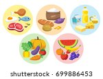 the five food group. let's get ... | Shutterstock .eps vector #699886453