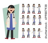 diverse set of female doctor ... | Shutterstock .eps vector #699887938