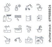 set of thin line icons... | Shutterstock .eps vector #699888826