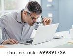 businessman working at office... | Shutterstock . vector #699891736