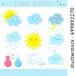 collection of a cute vector... | Shutterstock .eps vector #699892270