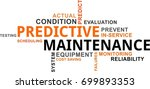 a word cloud of predictive... | Shutterstock .eps vector #699893353