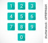 set of 0 9 numbers | Shutterstock .eps vector #699894664