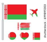 belarus flag vector...   Shutterstock .eps vector #699895303