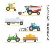 set farm machinery.... | Shutterstock .eps vector #699896443