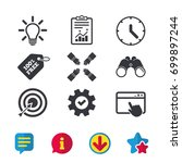 lamp idea and clock time icons. ...