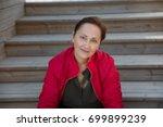 nice portrait of a woman... | Shutterstock . vector #699899239