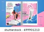 vivid cosmetic brochure design  ... | Shutterstock .eps vector #699901213