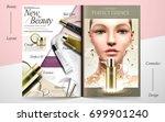 elegant skin care brochure... | Shutterstock .eps vector #699901240