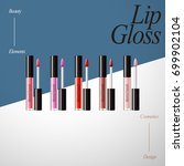 lip gloss product collection ...   Shutterstock .eps vector #699902104