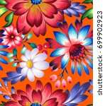 ethnic pattern with beautiful... | Shutterstock . vector #699902923