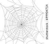 spider web isolated on white ... | Shutterstock .eps vector #699904714