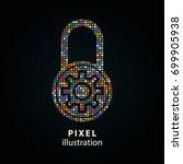 lock   pixel icon. vector... | Shutterstock .eps vector #699905938