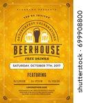 oktoberfest beer festival...   Shutterstock .eps vector #699908800