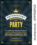 oktoberfest beer festival... | Shutterstock .eps vector #699908920