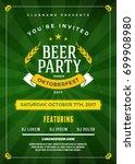 oktoberfest beer festival... | Shutterstock .eps vector #699908980