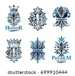 royal symbols lily flowers ... | Shutterstock .eps vector #699910444