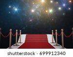 red carpet for vip. flash... | Shutterstock . vector #699912340