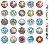 3d vector digital wireframe... | Shutterstock .eps vector #699914260