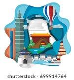 taipei travel infographic  ...   Shutterstock .eps vector #699914764