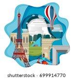 travel infographic  ... | Shutterstock .eps vector #699914770