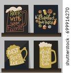 oktoberfest poster. beer... | Shutterstock .eps vector #699916270