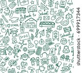 back to school  seamless... | Shutterstock .eps vector #699917344